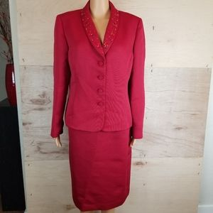 Tahari Arthur S. Levine Women's Red Business Suit
